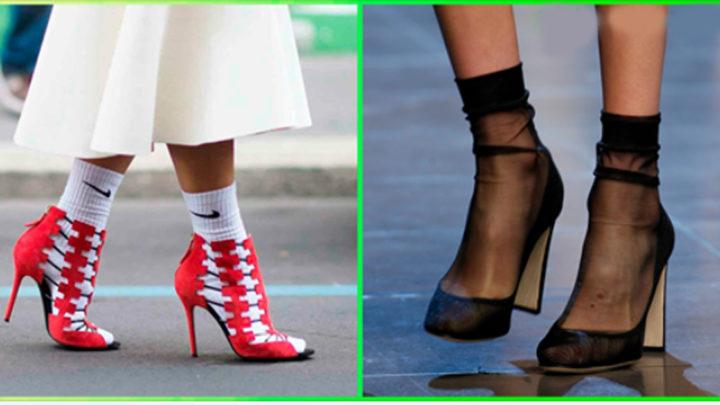 Туфли с носками: Учимся носить тренд правильно