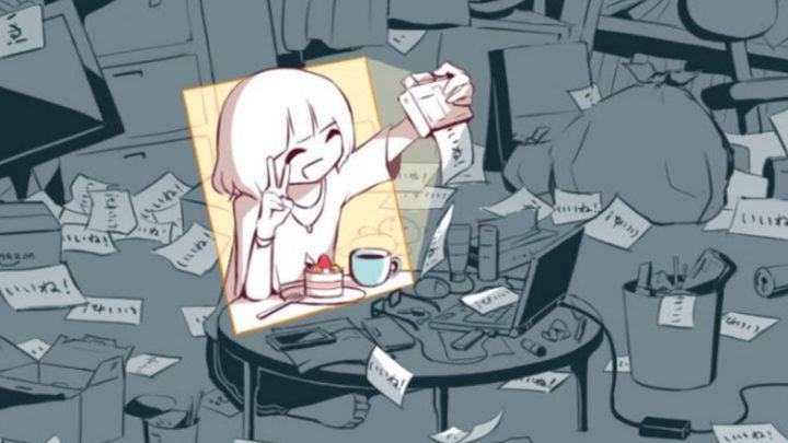 Японский художник изображает чувства